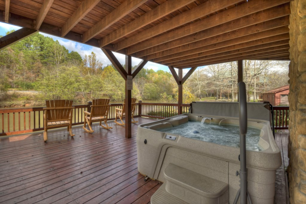 Grab your favorite drink and relax in the Hot Tub