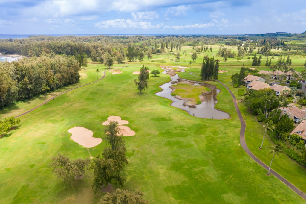 Aerial Shot of Golf Course