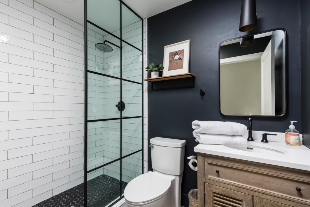 3rd Bathroom with large walk-in shower