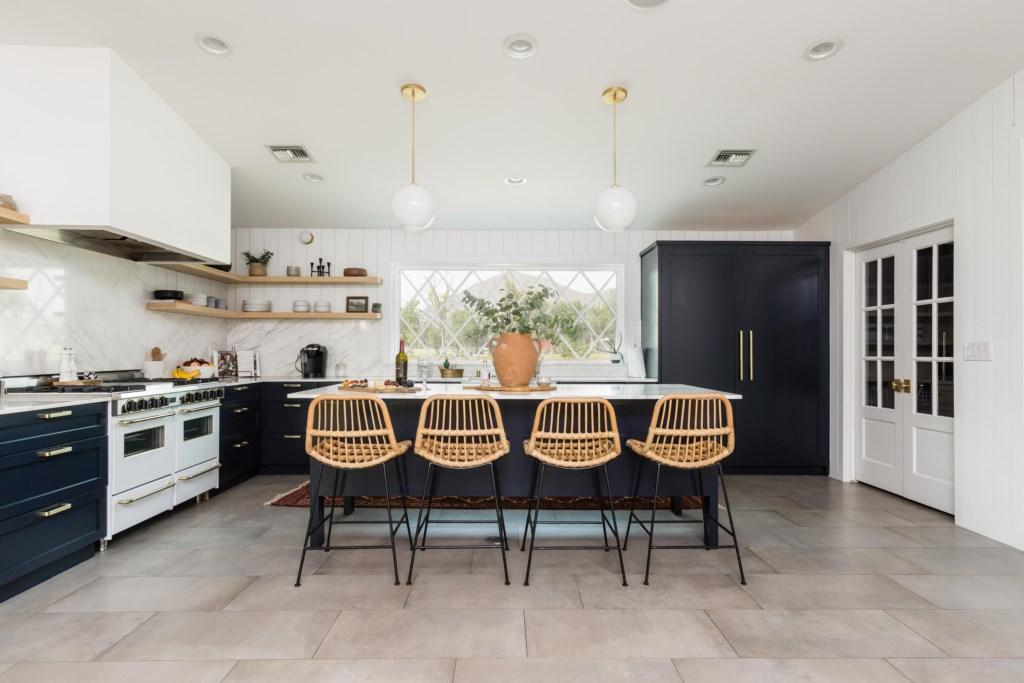 Bar kitchen seating area