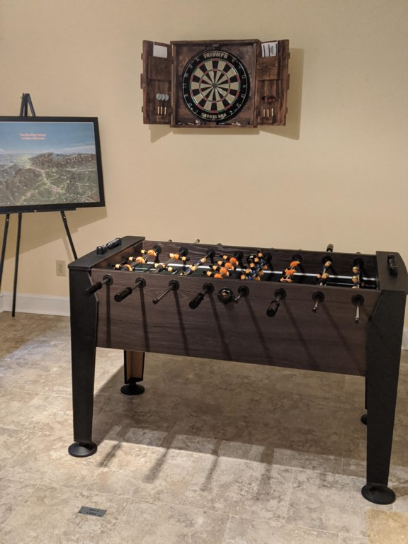 Dart Board/Foosball Table