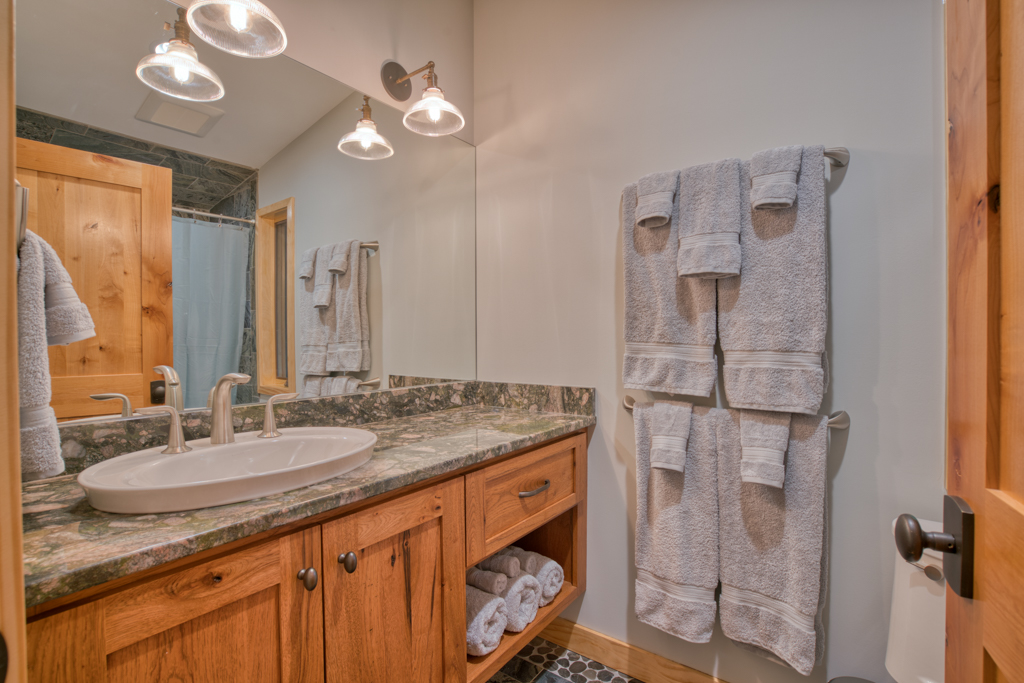 Upper Guest Bath with Tub and Shower