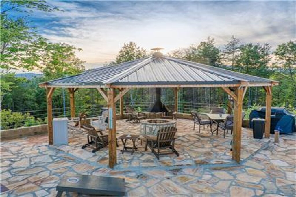 Shared Gazebo and Firepit Area