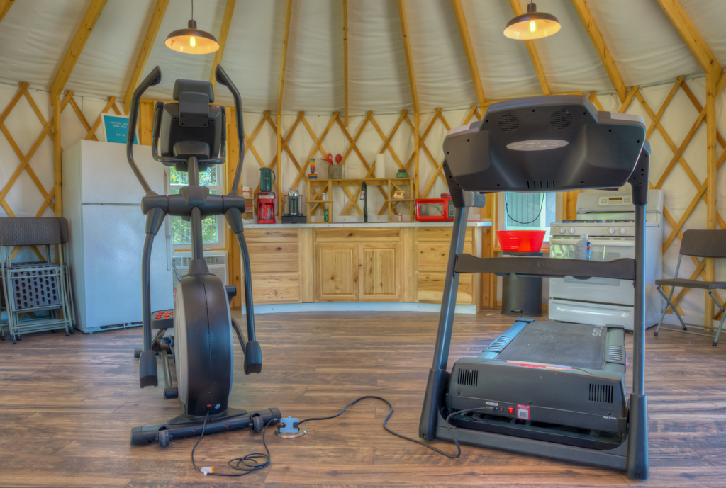 Treadmill And Elliptical Available In The Yurt