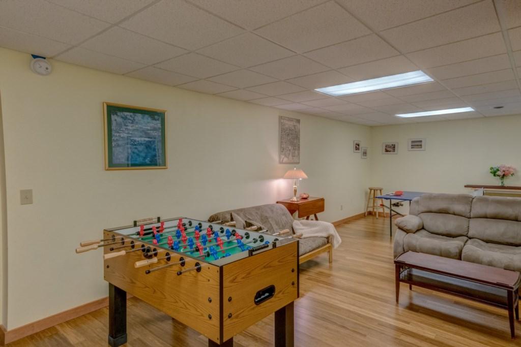Foosball Table downstairs
