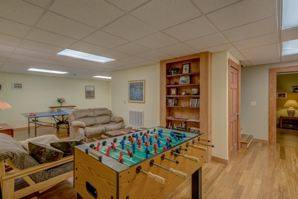 Foosball and Ping Pong ! what more could you ask for?
