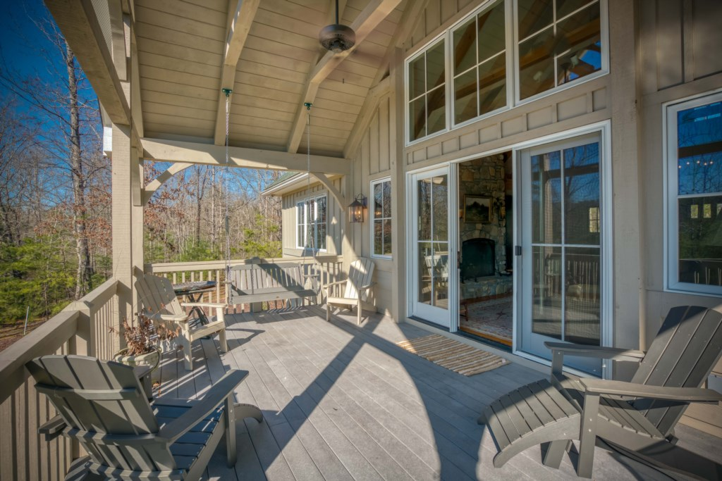 back deck with great views!
