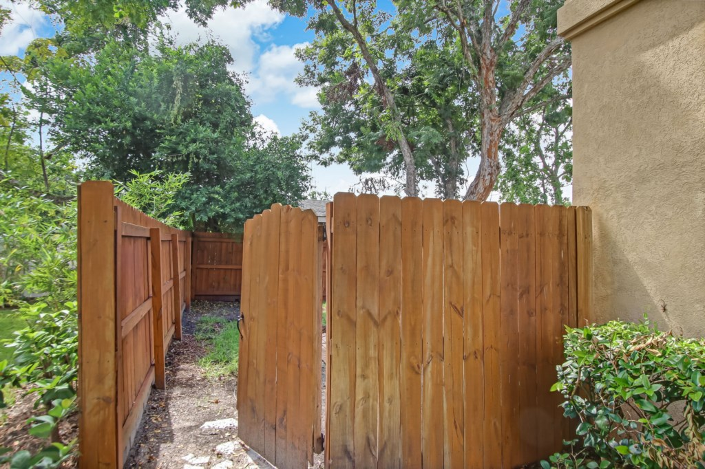 Completely Private Fenced Yard