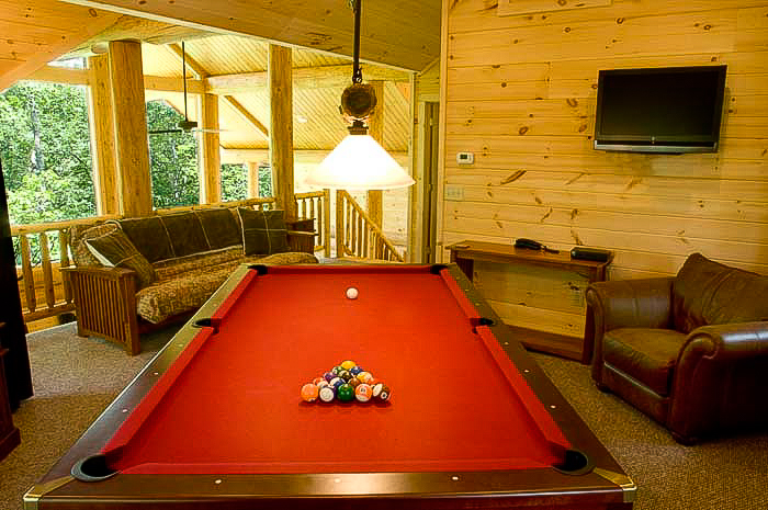 WS6 Upstairs Pool table in loft