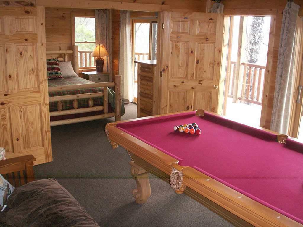 Watershed 9 lower bedroom and pool table