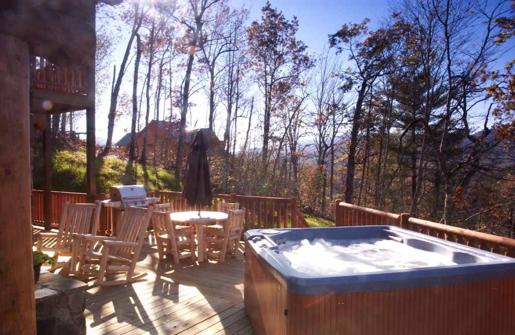 WS11 Hot tub and view in Winter