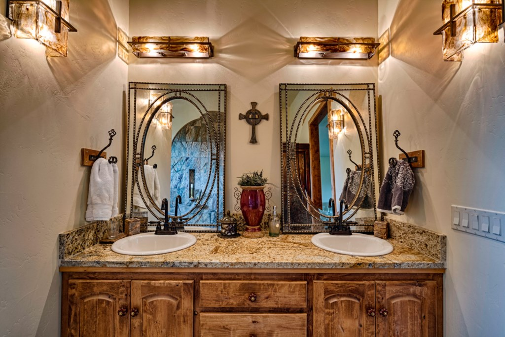 Double Sink and Granite Counter in Bathrooms