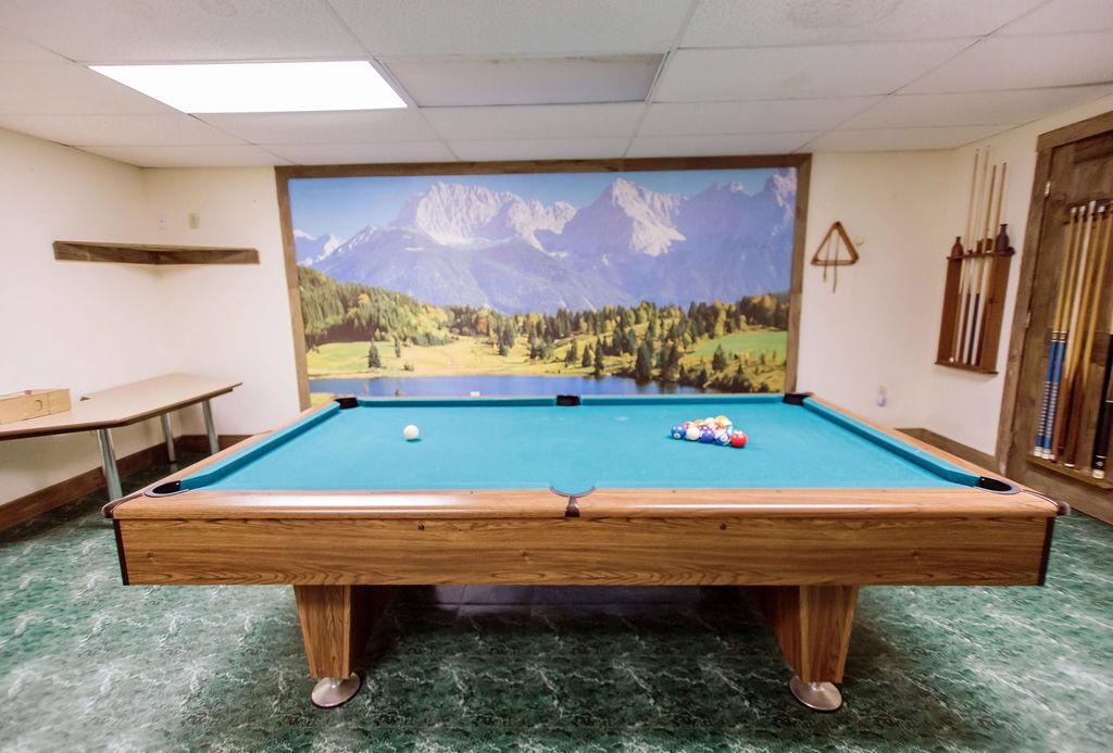 Engage in a fun game of pool with friends or family.