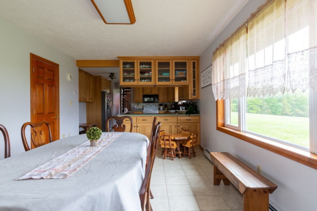 Dining room is right off the kitchen.