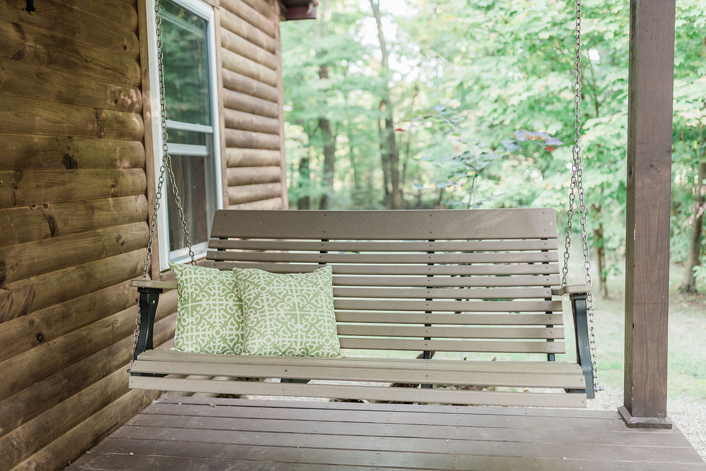 Unwind on the front porch swing.