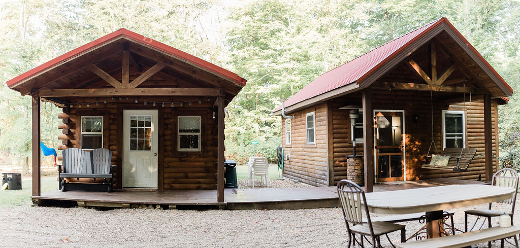 Adorable, cozy cabins.  Both for you enjoyment.