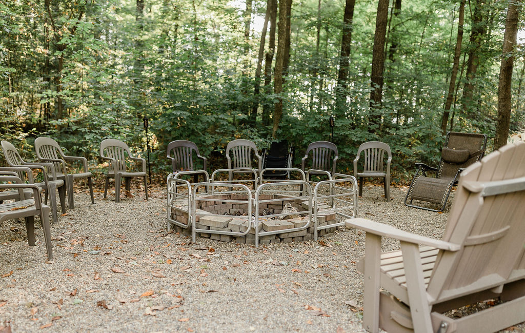 Gather friends and family around the fire pit.
