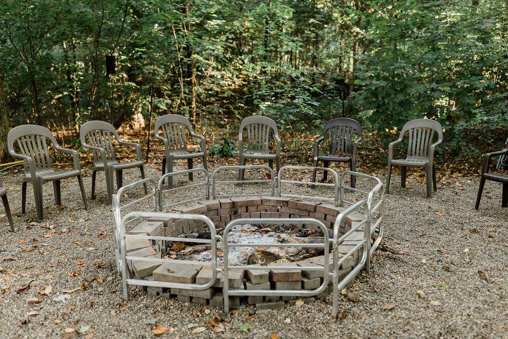 Enjoy evenings cozied up around the fire pit.