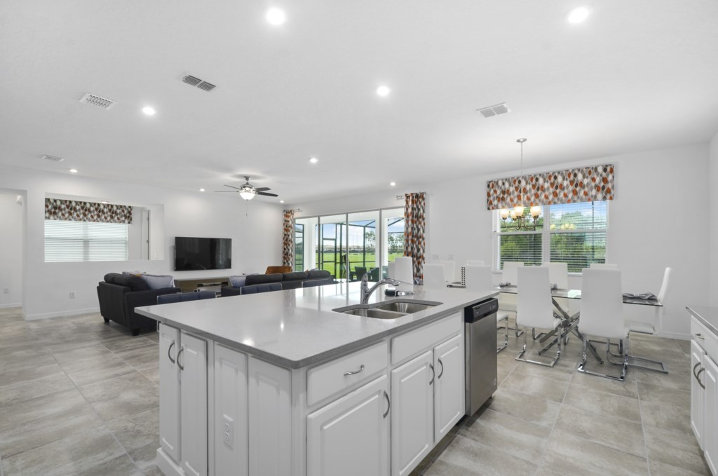 Spacious and bright open floor plan.