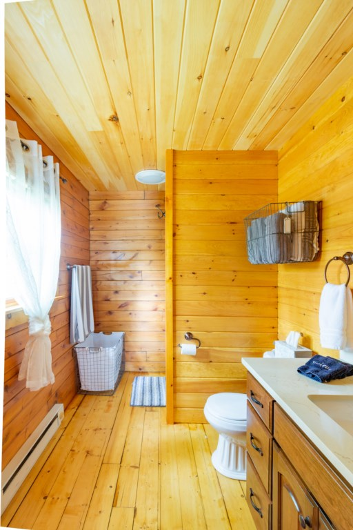 Full size bathroom with a walk in shower.