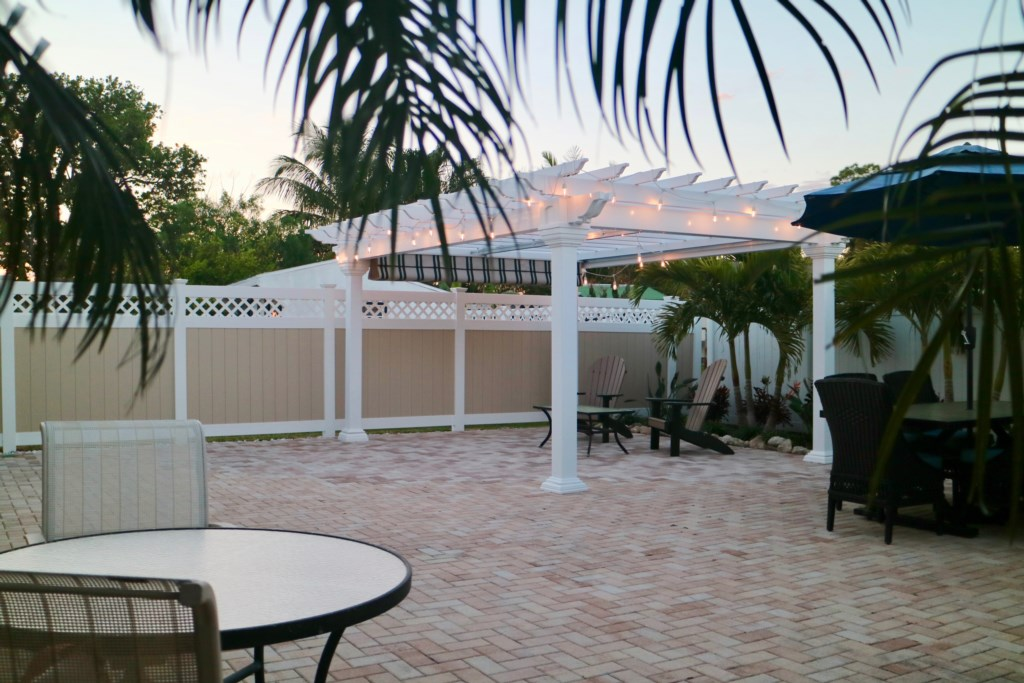 Plenty of room to play in the back patio with friends and family.
