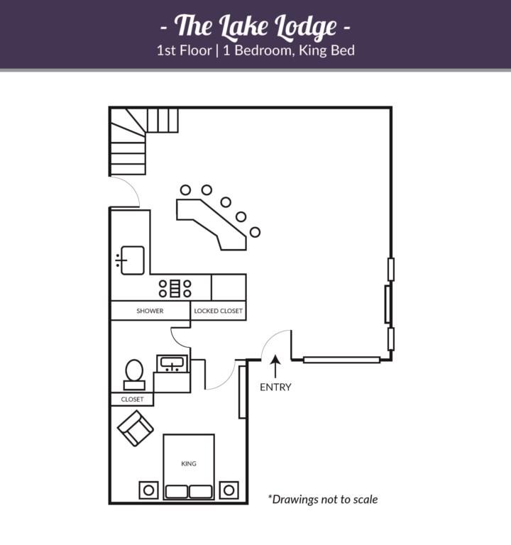Lake Lodge, Main House Upstairs