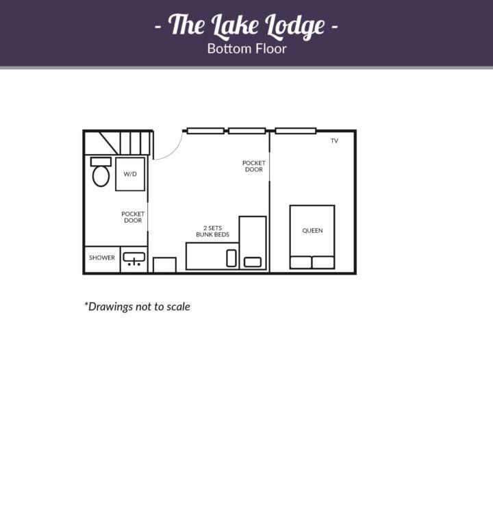Lake Lodge, Main House Downstairs