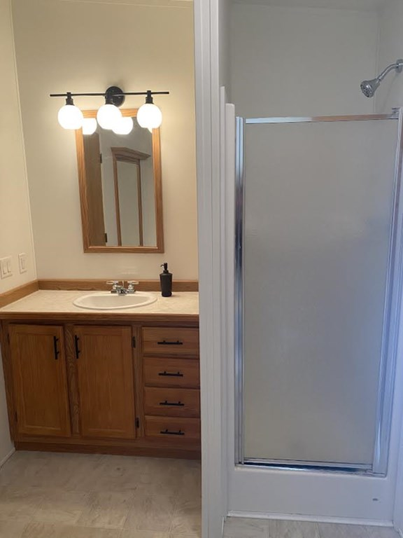 Master bath contains shower and large soaking tub.