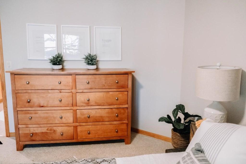 Full bedroom area.