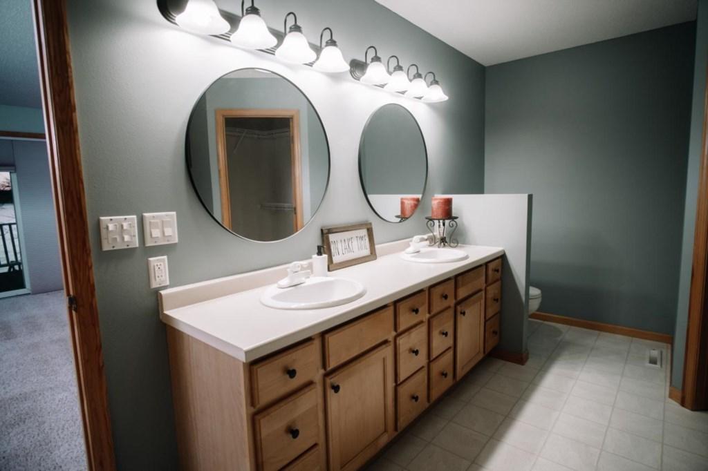 Master suite double vanity