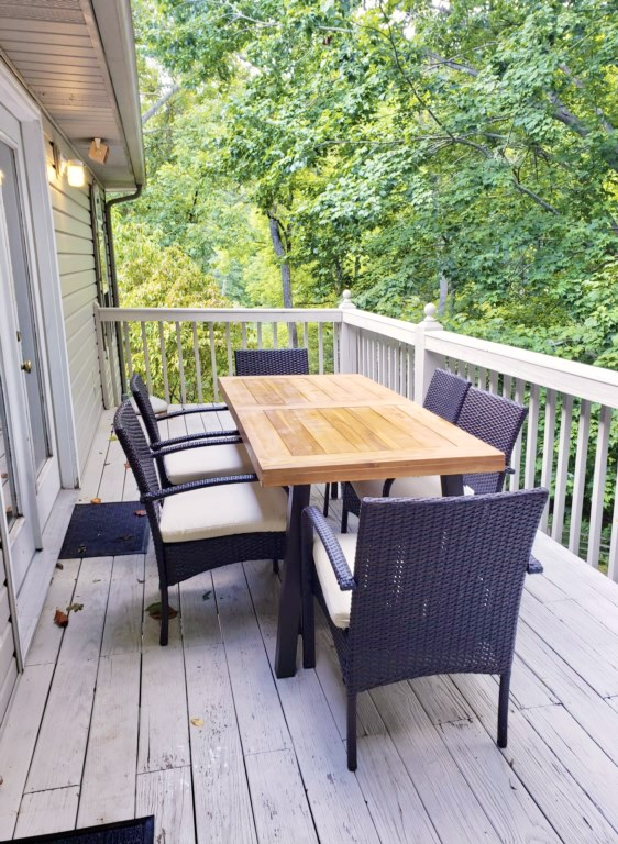 Back porch furniture for dining