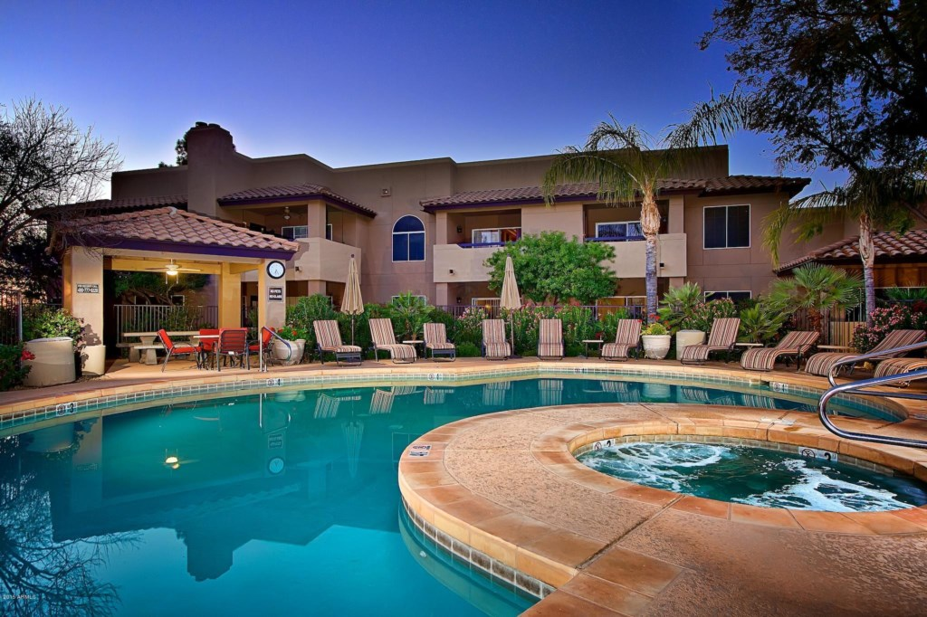 Community heated pool and spa!