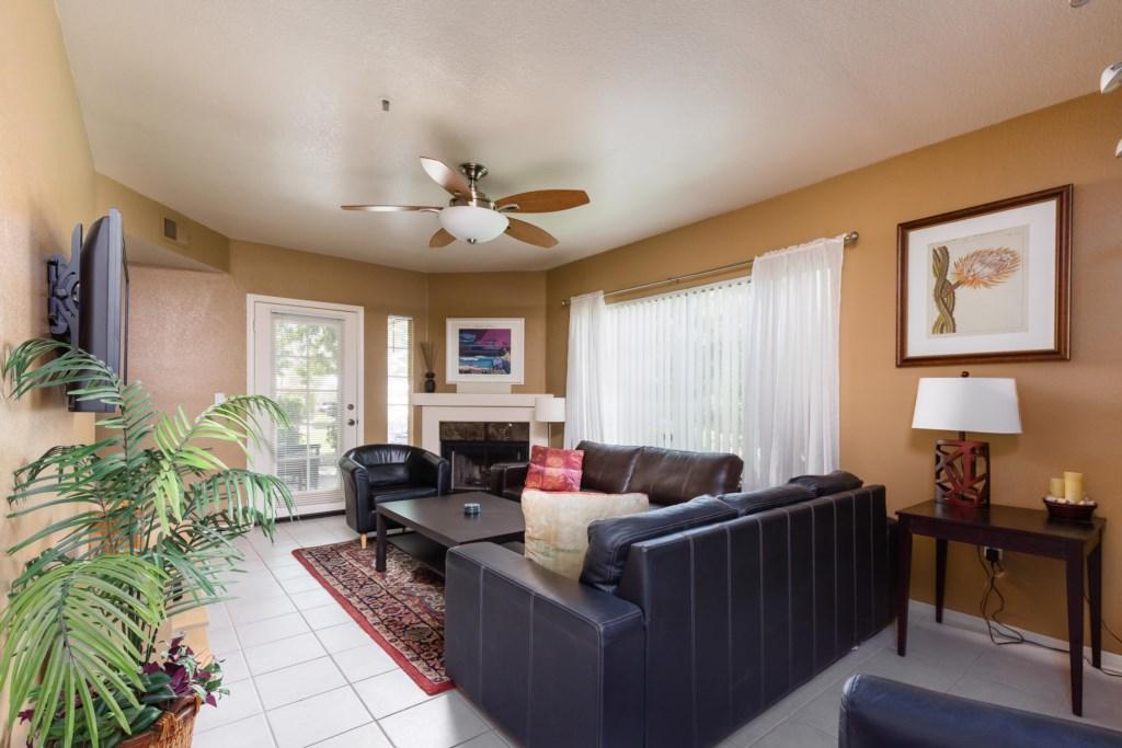 Bright open living room