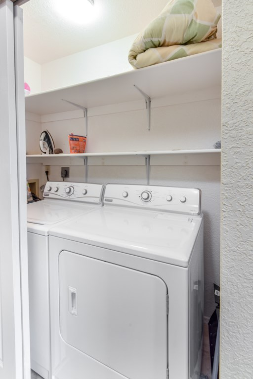 Washer and Dryer Available for your Convenience