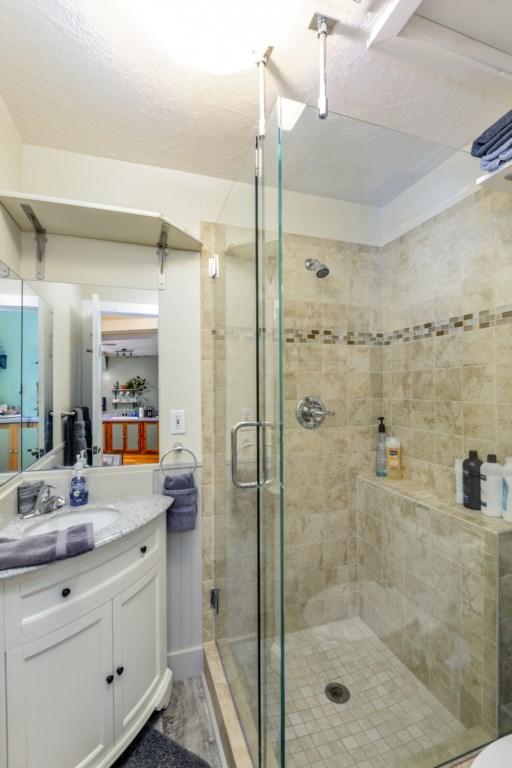 Walk-in Stone Shower