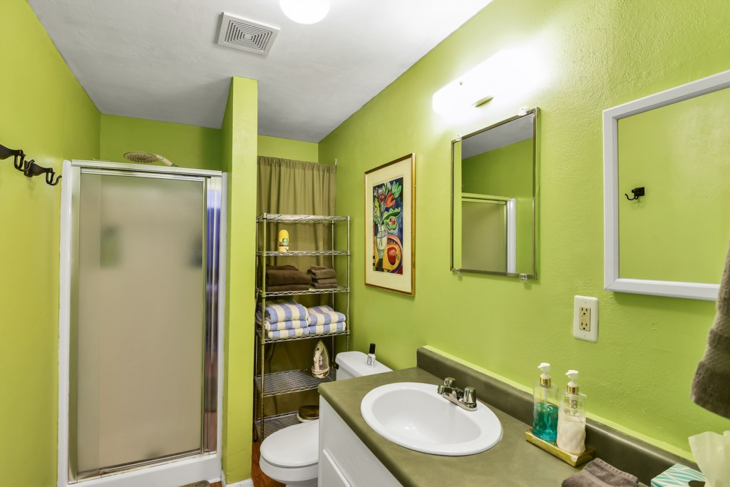 Colorful Bathroom With Essentials