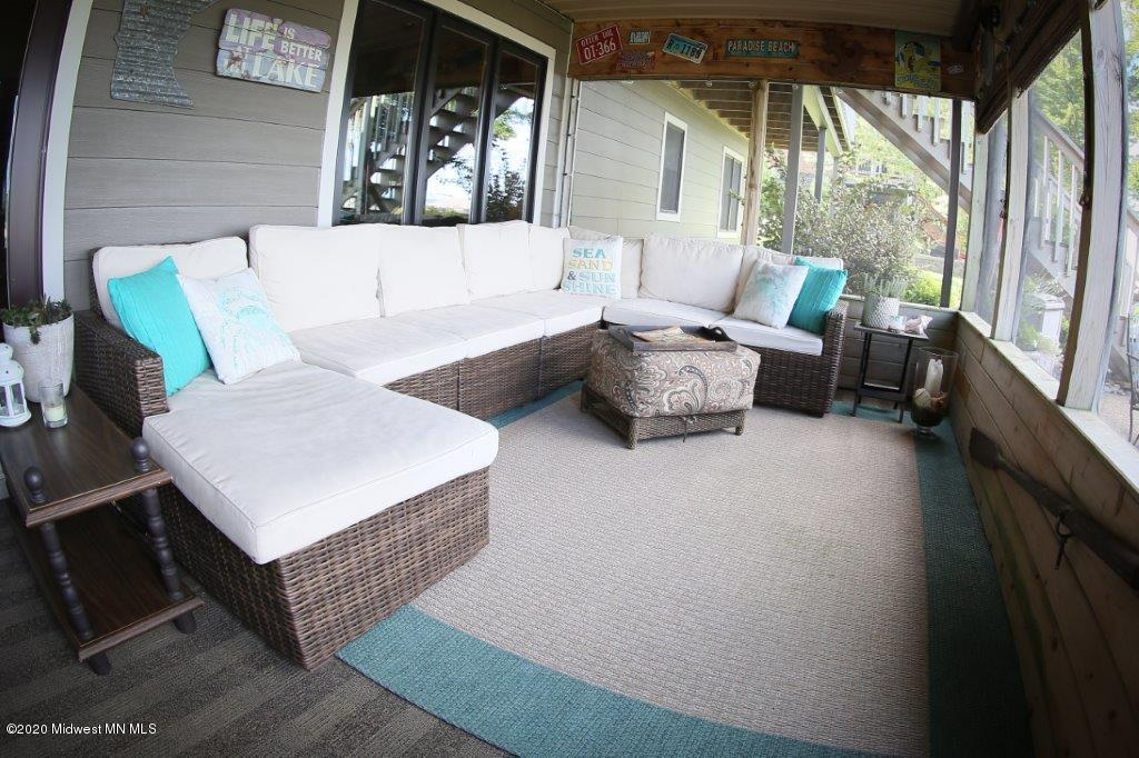 Just in case the weather isn't perfect, this porch/sunroom fits the bill.