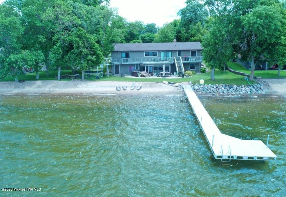 Private sand beach with expansive dock system.  Ottertail lake, the largest in our county.