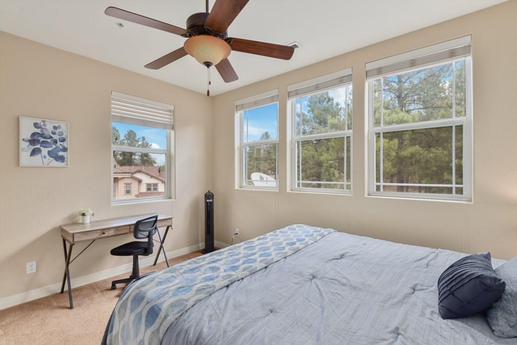 Bedroom #2, King bed with desk workspace