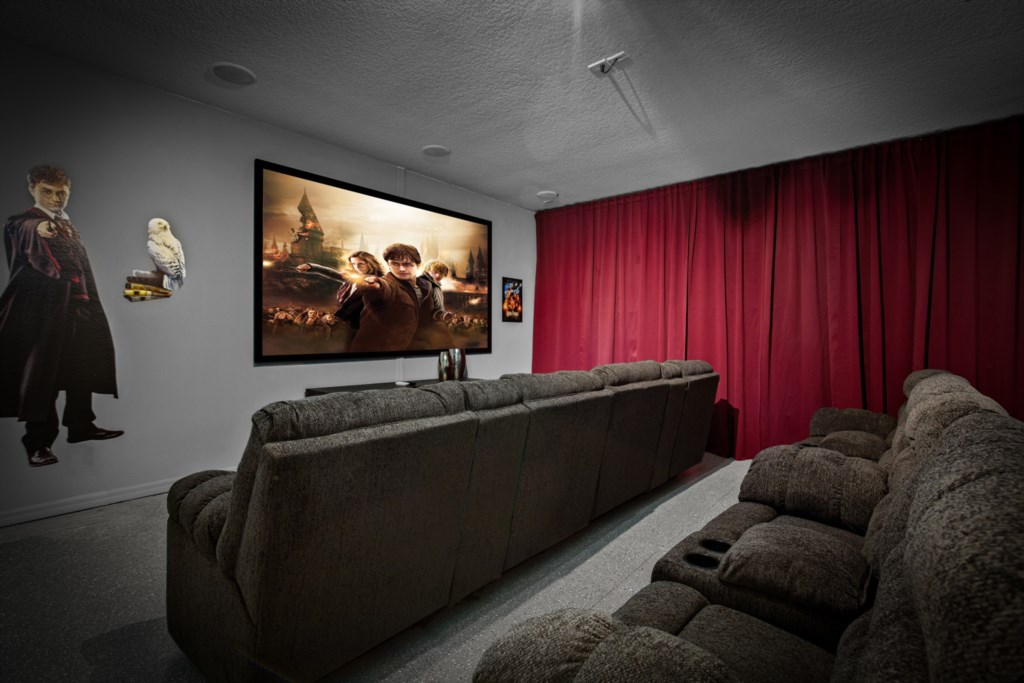 Magical Harry Potter themed movie room