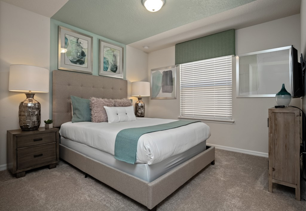 Wonderful queen bed with flat screen TV