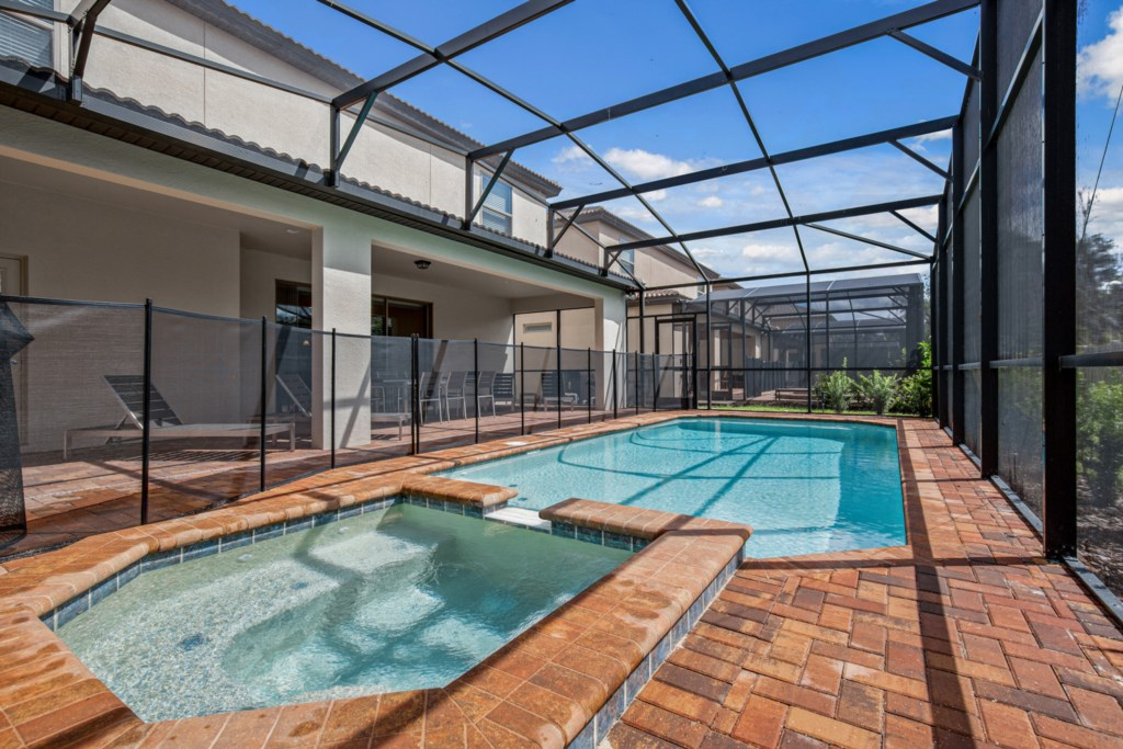 View 2 of luxurious pool and spa