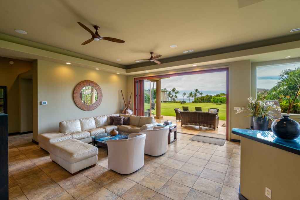 Luxury Living Room with Ocean Views - Go ahead and Open those Doors!