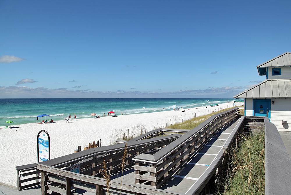 Miramar Beach Public Access With Bathrooms for added convenience