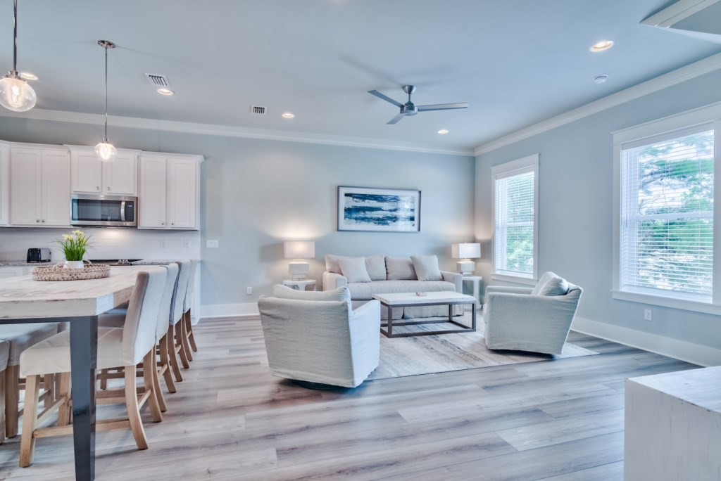 Open plan Living, Kitchen and Dining makes this Home ideal for large gatherings