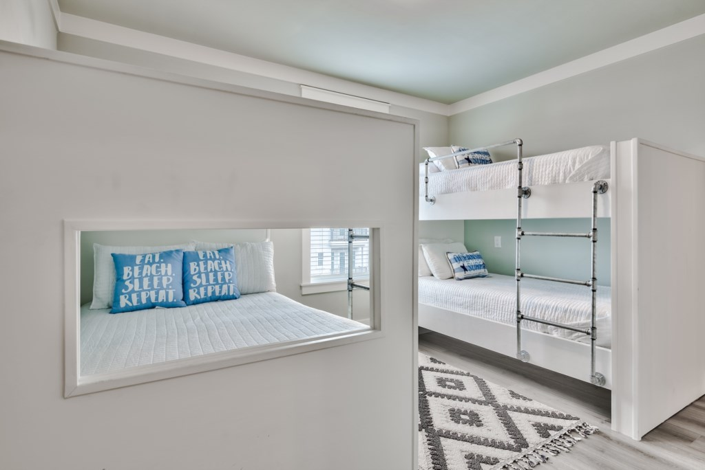 Level 3 Bunk Bedroom with Full/Full Bunk Bed and Twin/Twin Bunk bed and private Bathroom