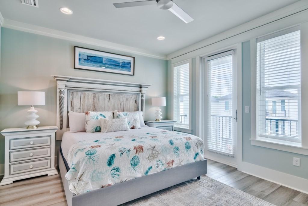 3rd Floor Master Bedroom with Balcony access