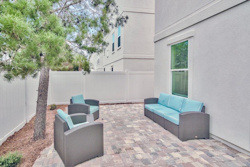 Enjoy outdoor living on your private patio