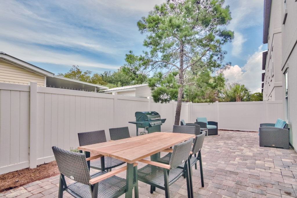 After a day at the Beach sit out and BBQ on your private Grill and Patio