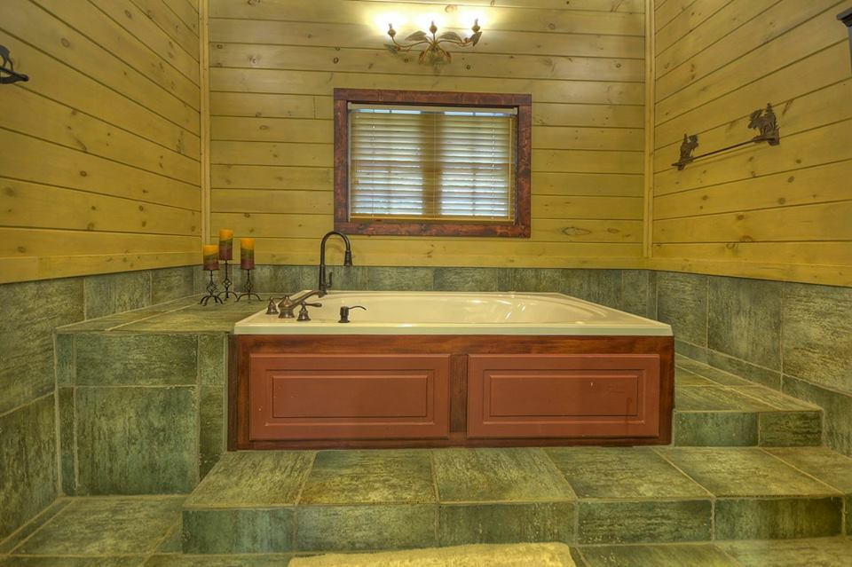 Relax and unwind and soak away in this large tub